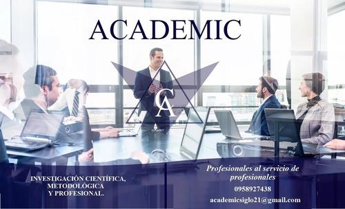 asesoría académica tesis, tesinas, ensayos, tfm, artículos