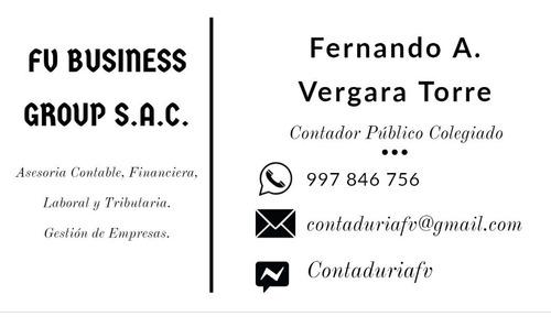 asesoría contable, financiera, laboral y tributaria. gestión