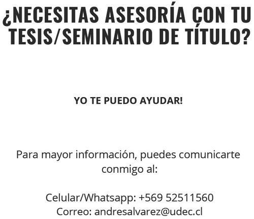 asesoría de tesis, construcción de seminarios bibliográficos