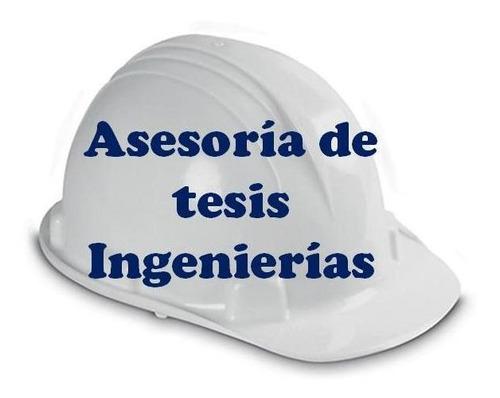 asesoría de tesis del área de ingeniería