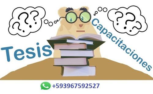 asesoria de tesis, sistemas y aplicaciones informaticas
