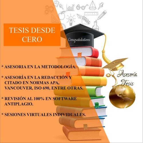 asesoría de tesis, tesinas, monografías trabajos de urgencia