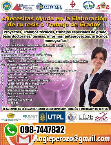 asesoría de tesis, tesinas, proyectos, correcciones, plan n