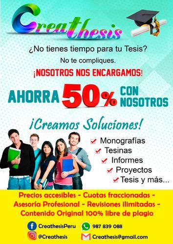 asesoría de tesis y trabajos de investigación 987839088