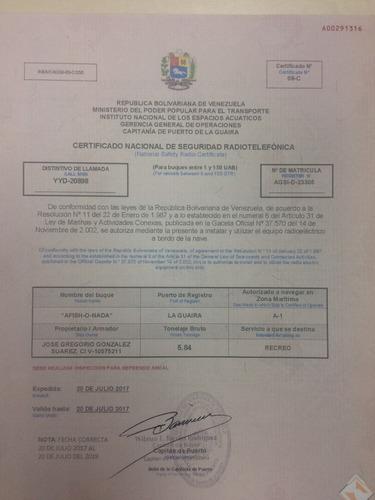 asesoría documentación legal para lanchas capitanía inea