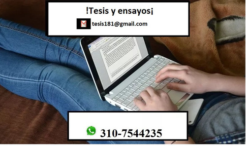 asesoría en redacción de tesis y ensayos ¡garantia total!