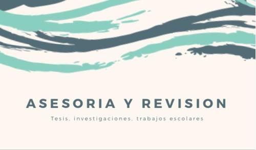 asesoría en redacción y revisión de tesis, investigaciones