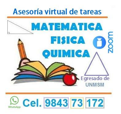 asesoría en tareas -  matemáticas y física
