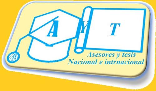 asesoría en tesis de grado, maestría, especialización, otros