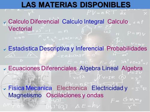 asesoría en trabajos de estadística, matemática física