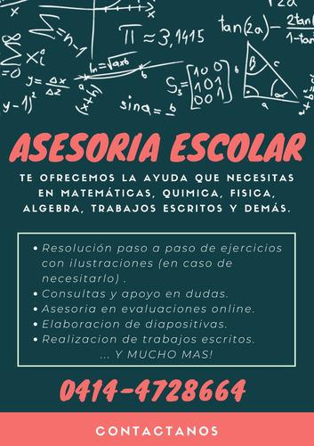 asesoria escolar y universitaria (en ing), clases desde casa