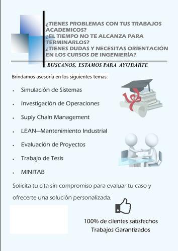 asesoría especializada-simulación, papers, tesis