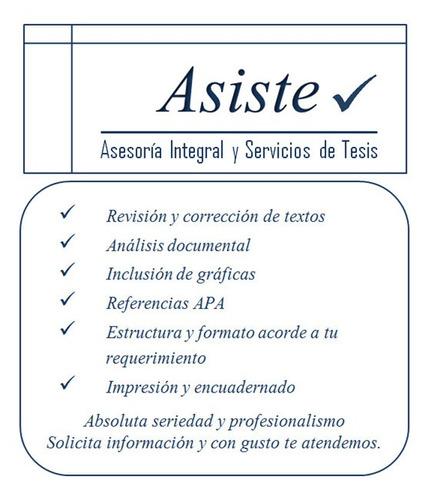 asesoría integral y servicios de tesis