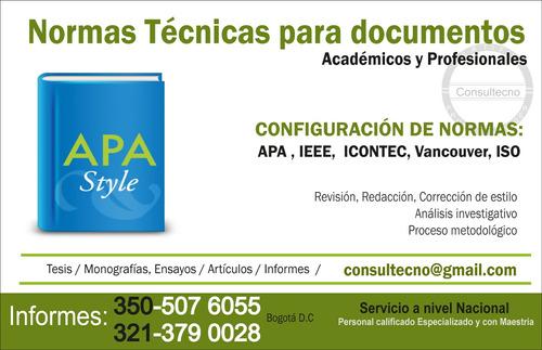 asesoría metodológica tesis, monografías y artículos