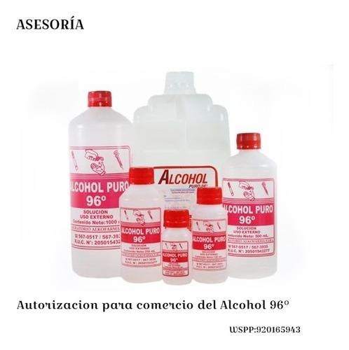 asesoría para autorización de comercialización de alcohol 96