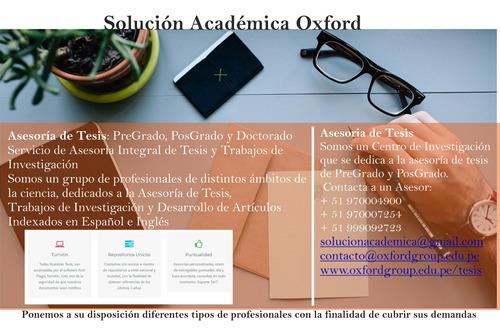 asesoría personalizada de tesis  comienza tu tesis hoy mismo