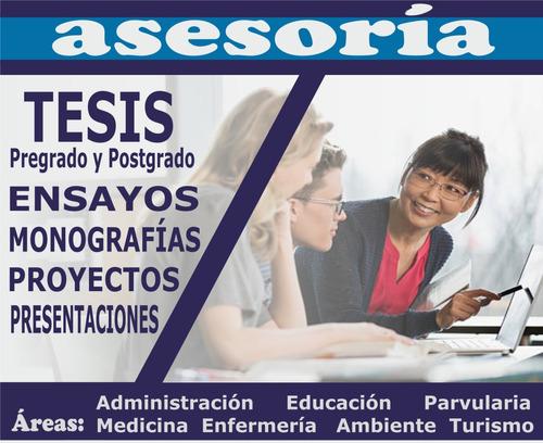 asesoría personalizada  de tesis, proyectos, artículos