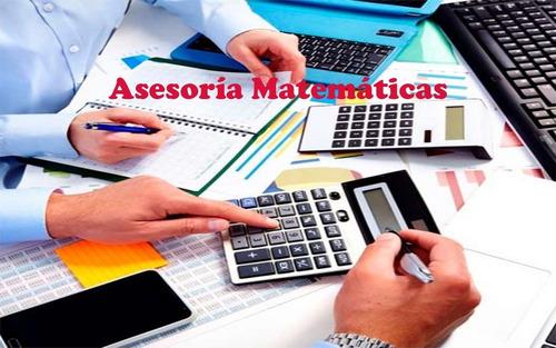 asesoría, resolución de problemas de  matemáticas-online