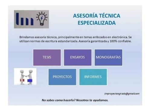 asesoría técnica especializada tesis, monografias