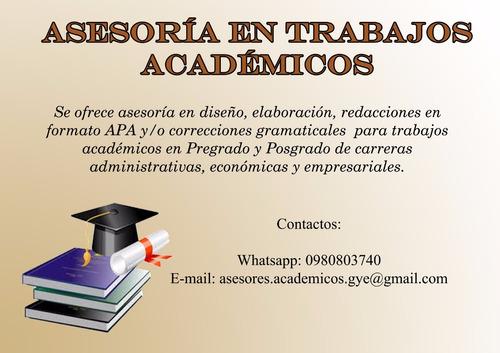 asesoría tesis, ensayos, anteproyectos en todos los formatos