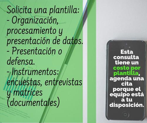 asesoría tesis integral y tutor externo (finanzas, planes)