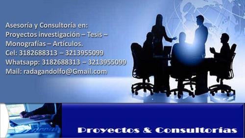 asesoría tesis proyectos monografías investigaciones