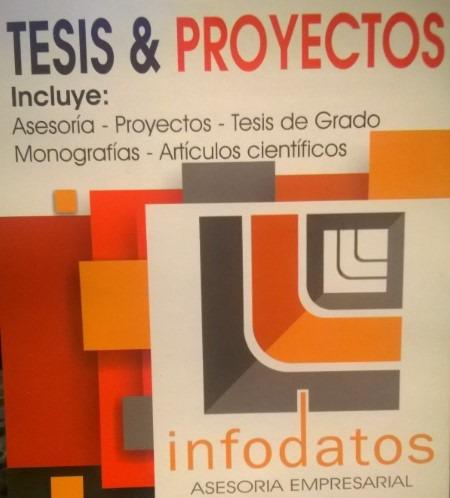 asesoría tesis  - tfg - tfm - monografías - proyectos