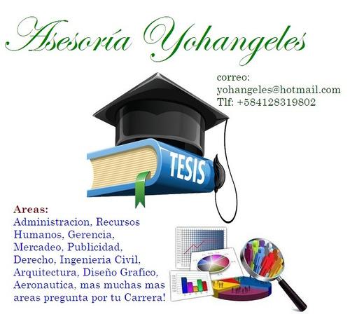 asesoría trabajos de grado tesis, nivel nacional e intern