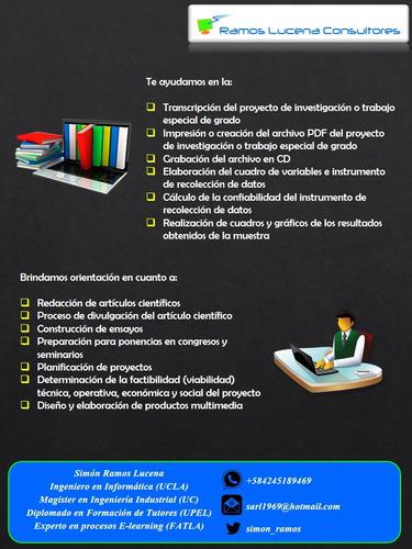 asesoría trabajos y tesis de grado ramos lucena consultores