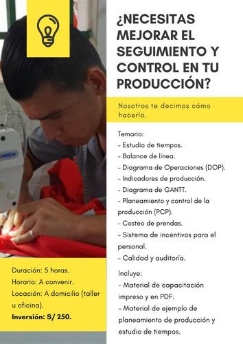 asesoría y capacitación en ingeniería de confecciones