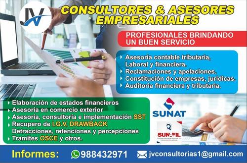 asesoría y consultoria contable tributario