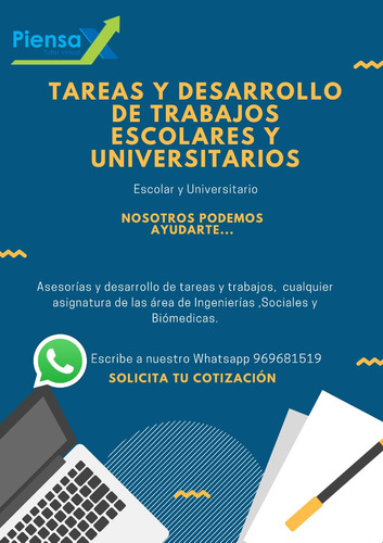 asesoría y desarrollo de trabajos escolares y universitarios