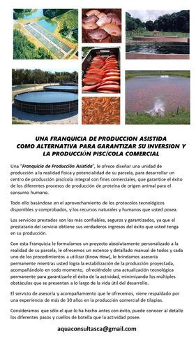 asesoría y formulación de proyectos piscícolas para tilapias
