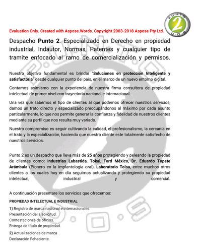asesoría y registro de marca y patentes.