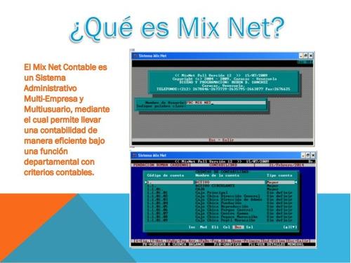 asesoría y/o soporte remoto: mixnet ver 7.1 a la 14