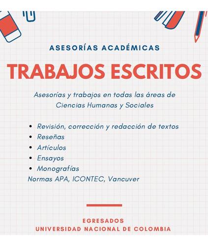 asesorías académicas y trabajos escritos