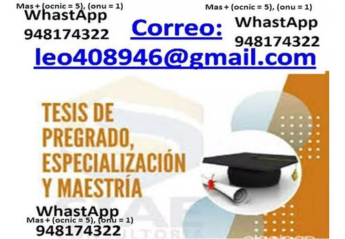 asesorías de tesis de grado, gratis capitulo i