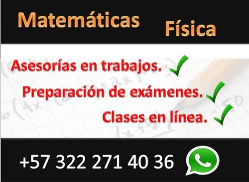 asesorias en trabajos de matemáticas y física