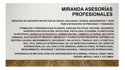asesorías tesis pregrado, maestría y doctorado