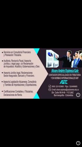 asesorías tributarias,contables, control interno, auditoria