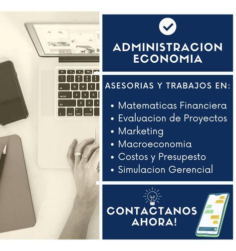 asesorías y trabajos en finanzas, administración, excel.