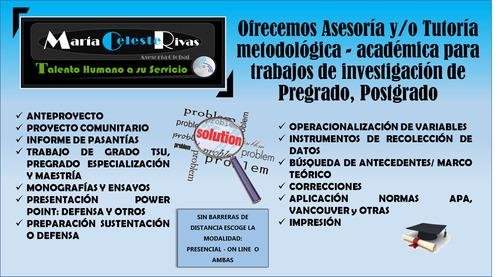 asesorías y tutorías de tesis de pre grado y post grado