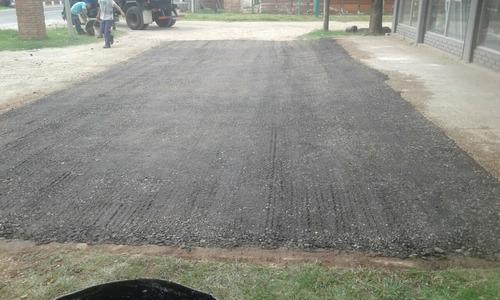 asfalto con fresado