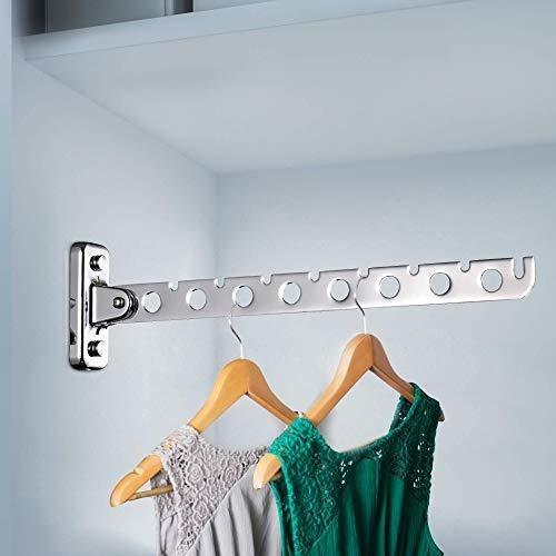 ashop perchero de pared para colgar ropa ganchos de acero in