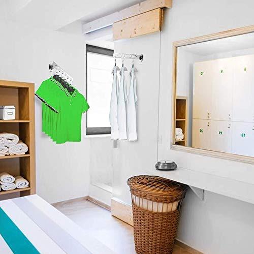 ashop soporte de pared para percheros colgador de ropa crom