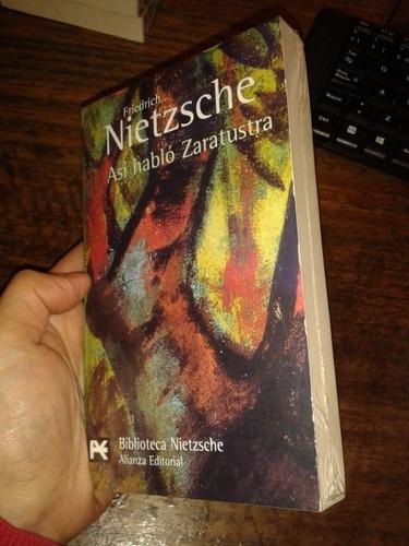 así habló zaratustra friedrich nietzsche / ed. alianza nuevo