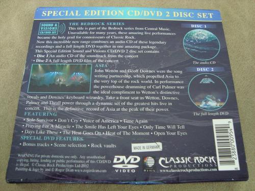 asia  live  sound & vision special edition cd + dvd set