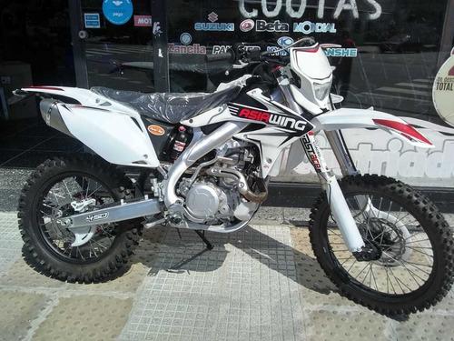 asiawing 450cc moto tipo crf enduro solo en motovega