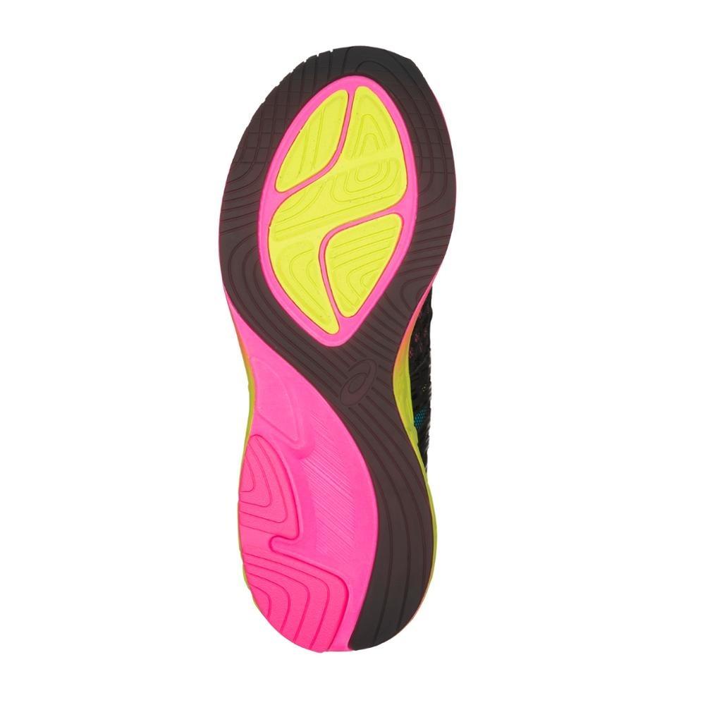 Carregando zoom... tênis casual hi asics feminino noosa ff2 t869n001 preto  pink 98f74bc448f8e