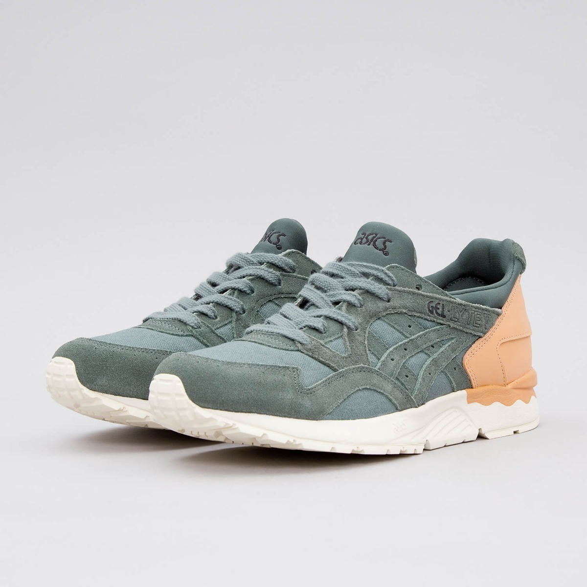 check out cdefa 21994 Asics Gel Lyte V Dark Forest Casual Academia Sneakers Retro